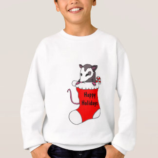 ZA- Christmas Possum in a Stocking Shirt