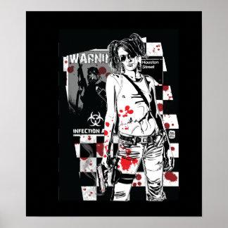 ZA exfoliado: Impresión del cazador del zombi Impresiones