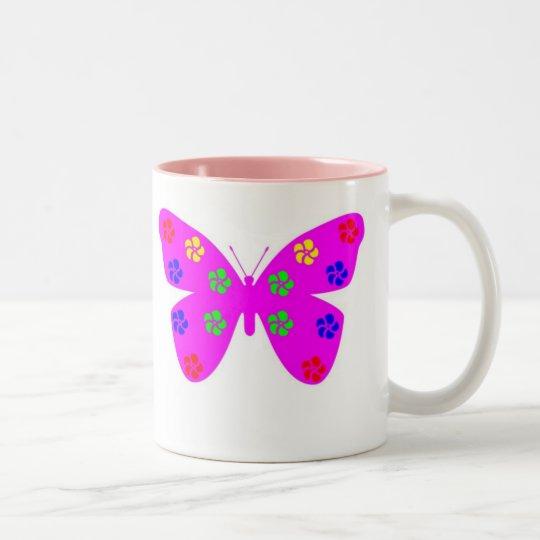 ZA-Pink Butterfly Mug
