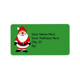 ZA- Santa Claus Christmas Address Labels