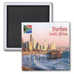 ZA - South Africa - Durban - Skyline Crop 2 Inch Square Magnet