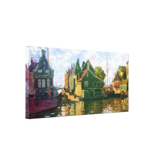Zaandam Canal Gallery Wrapped Canvas