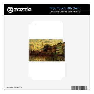 Zaandam, el dique, igualando por Claude Monet iPod Touch 4G Skins