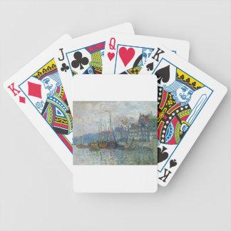 Zaandam, The Dike by Claude Monet Bicycle Playing Cards