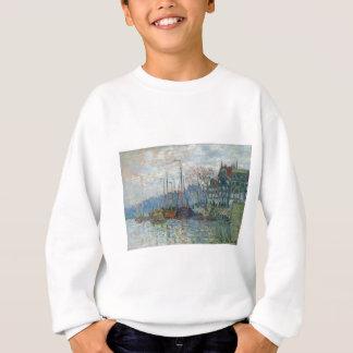 Zaandam, The Dike by Claude Monet Sweatshirt