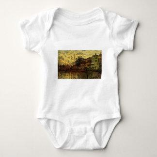 Zaandam, The Dike, Evening by Claude Monet Baby Bodysuit