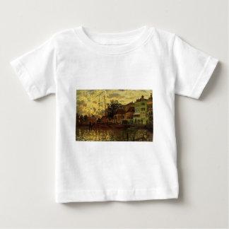 Zaandam, The Dike, Evening by Claude Monet Baby T-Shirt