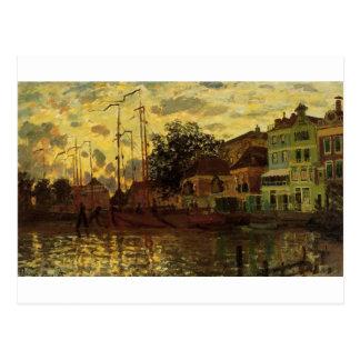 Zaandam, The Dike, Evening by Claude Monet Postcard