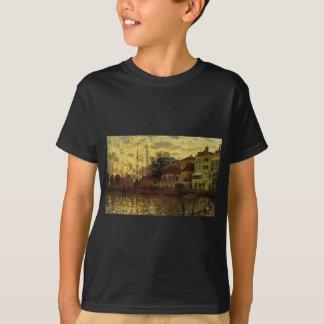 Zaandam, The Dike, Evening by Claude Monet T-Shirt