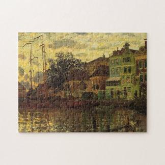 Zaandam The Dike Evening Monet Fine Art Jigsaw Puzzle