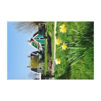 "Zaanse Schans charming scenery   24""x16"" Canvas"