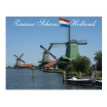 Zaanse Schans Holland Windmills Postcard