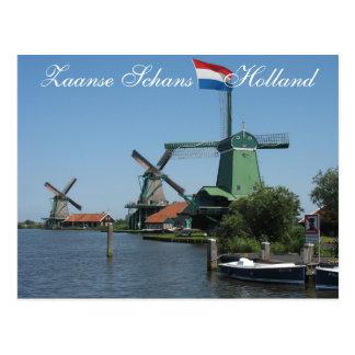 Zaanse Schans Holland Windmills Postcard