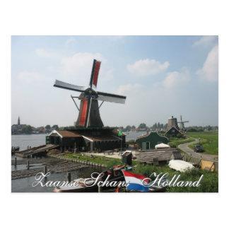 Zaanse Schans Windmill Postcard
