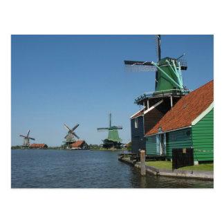 Zaanse Schans Windmills in Holland Postcard