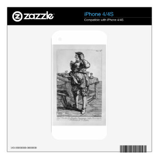 Zabaglia caricature of Nicholas, the Reverend iPhone 4 Skins