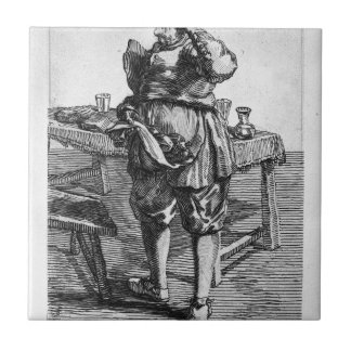 Zabaglia caricature of Nicholas, the Reverend Tile