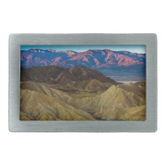 Zabriskie Colored Hills Sunrise - Death Valley Belt Buckle
