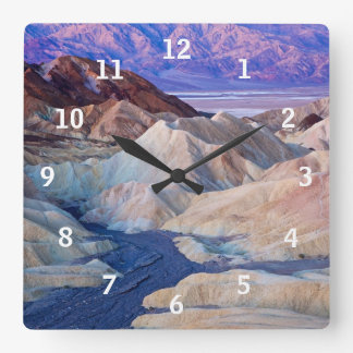 Zabriskie Point Before Dawn Square Wall Clock