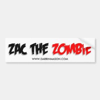 Zac the Zombie bumper sticker Car Bumper Sticker