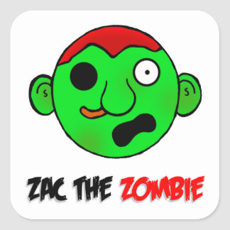 Zac the Zombie sticker