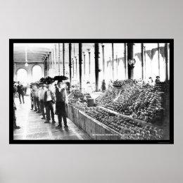 Zacatecas, Mexico Food Market 1904 Poster