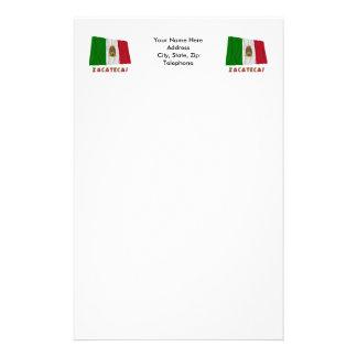 Zacatecas que agita la bandera oficiosa papeleria personalizada