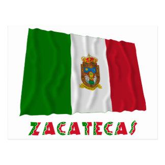 Zacatecas que agita la bandera oficiosa postal
