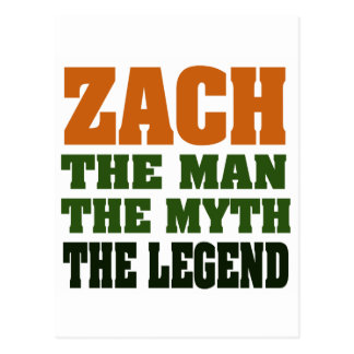 ZACH  - the Man, the Myth, the Legend Postcard