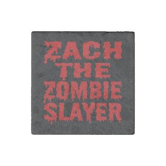 Zach The Zombie Slayer Stone Magnet