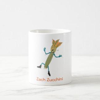 Zach Zucchini 11 oz white Scott Soda mug. Classic White Coffee Mug