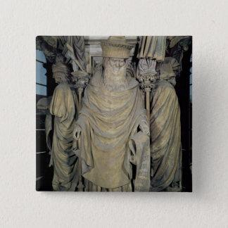 Zacharias, detail from the hexagonal pedesta pinback button