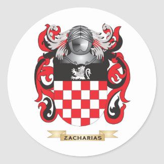 Zacharias Family Crest Coat of Arms Round Stickers