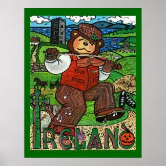Zachary Bear's® Tribute to Ireland Print