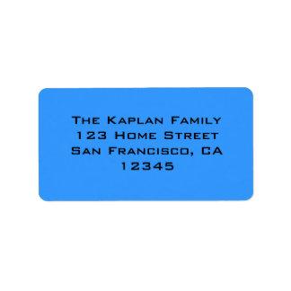 Zachary Blue Black Envelope Seal Address Label