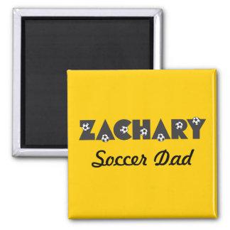 Zachary in Soccer Black 2 Inch Square Magnet