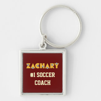 Zachary in Soccer Gold Keychain