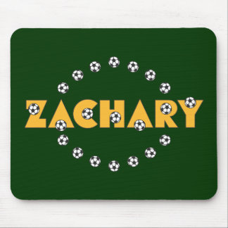 Zachary in Soccer Gold Mouse Pad