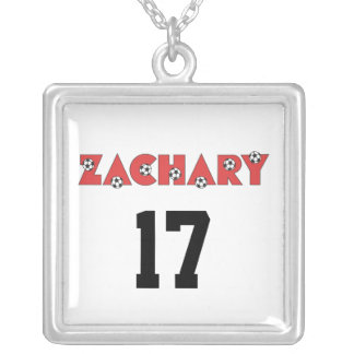 Zachary in Soccer Red Necklace