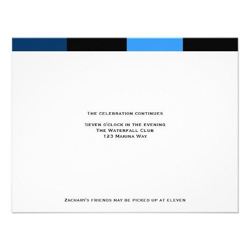 Zachary Royal Navy Blue Reception Card Invites