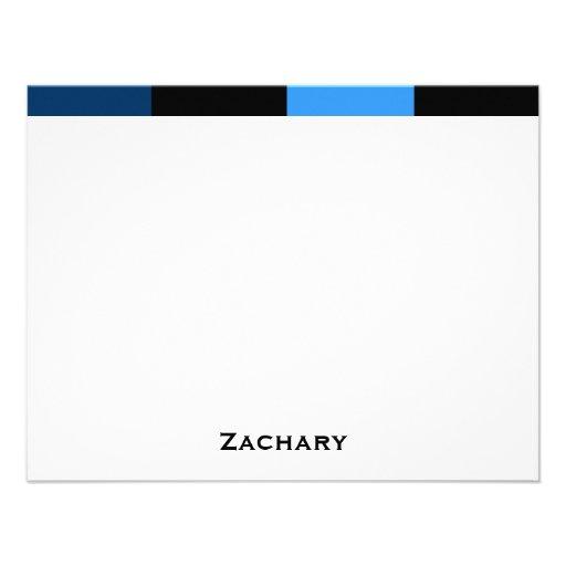 Zachary Royal Navy Blue Thank You Card Personalized Invitation