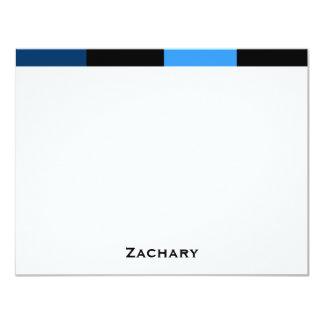 "Zachary Royal Navy Blue Thank You Card 4.25"" X 5.5"" Invitation Card"