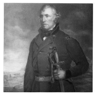 Zachary Taylor, 12mo presidente del estado unido Azulejo Cuadrado Grande