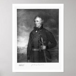 Zachary Taylor, 12mo presidente del estado unido Posters