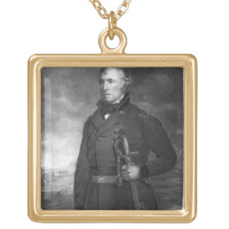 Zachary Taylor, 12th President of the United State Gold Plated Necklace