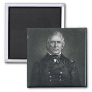 Zachary Taylor, engraved after a daguerrotype by T 2 Inch Square Magnet
