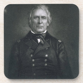 Zachary Taylor, engraved after a daguerrotype by T Beverage Coaster
