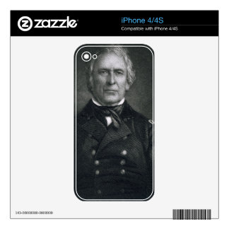 Zachary Taylor, engraved after a daguerrotype by T Decal For iPhone 4