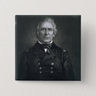 Zachary Taylor, engraved after a daguerrotype by T Pinback Button