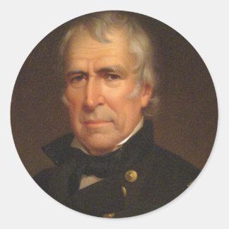 Zachary Taylor Pegatina Redonda